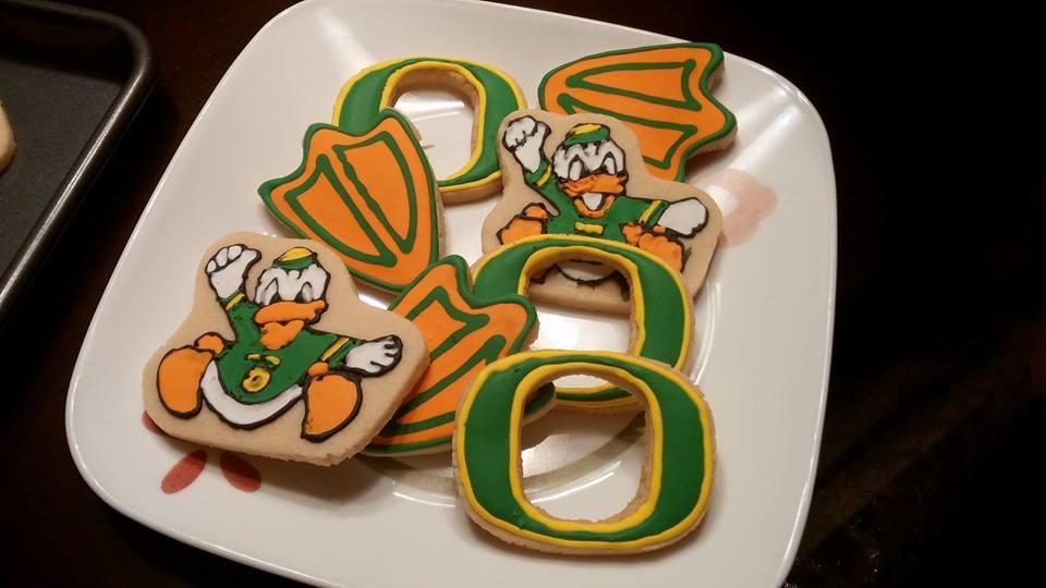 Oregon Ducks Cookies