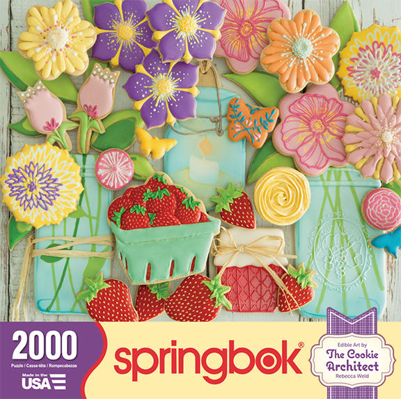 Spring Flower Cookies made into a Jigsaw Puzzle | The ...
