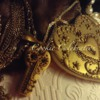Gold Heart Locket and Key