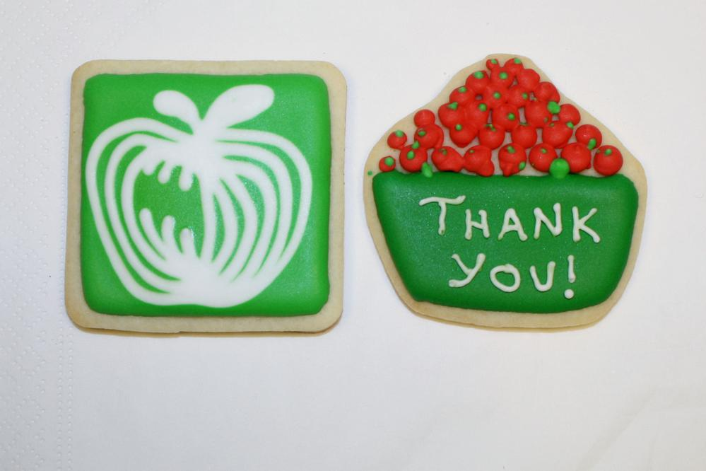 Thank-you Cookies for Produce Warehouse
