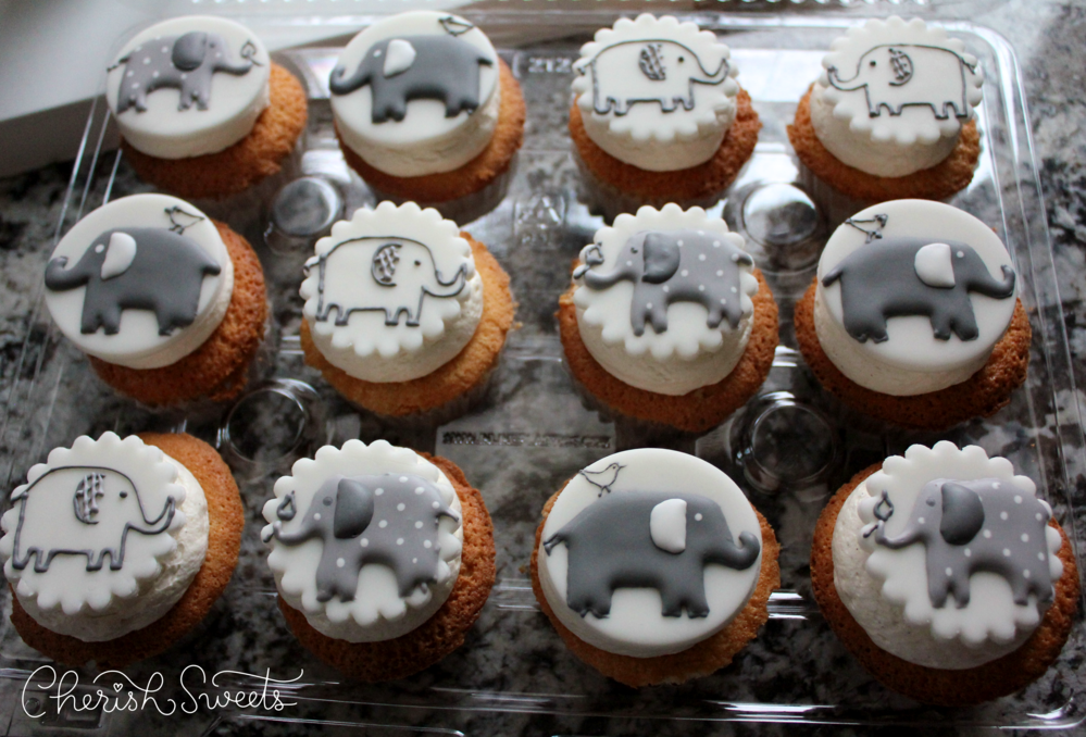 Elephant Fondant Cupcake Toppers Cookie Connection