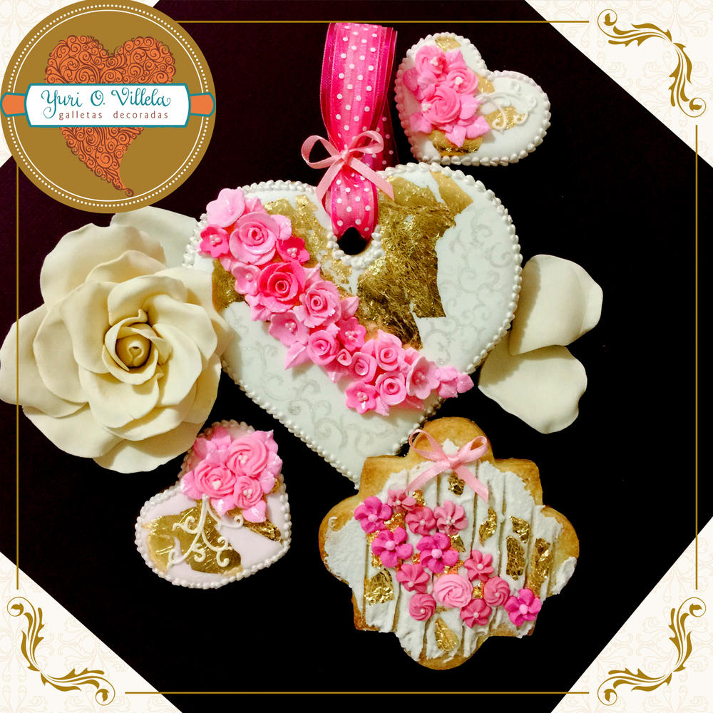 Elegant Wedding Cookie Set