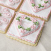 Open Tufted Garland Heart Cookie
