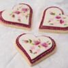 Victorian Hand Painted Floral Wedding Cookies
