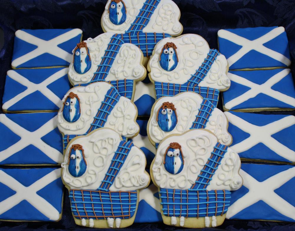 Braaaaaaaaveheart Cookies for Robbie Burns Day