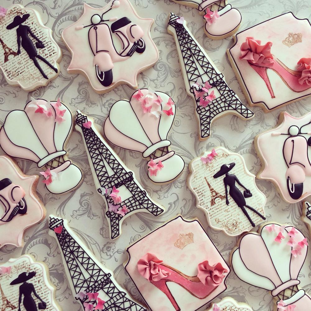 French-Themed Cookies