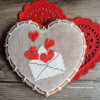 Evelope with hearts for Valentine's Day