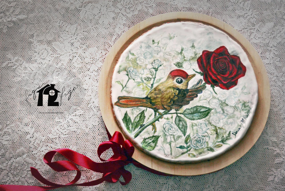 """The Nightingale and the Rose"" Cookie"