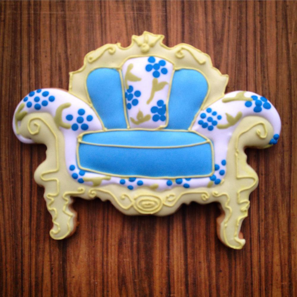 Blue floral chair
