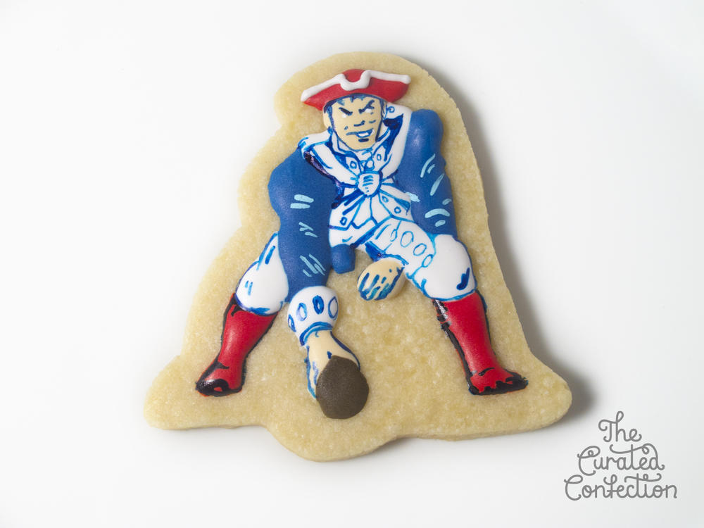 New England Patriots Throwback Cookie