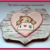 galleta oso enamorado
