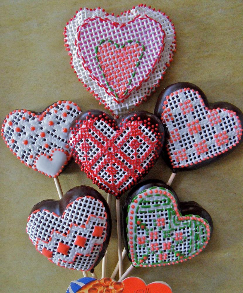 Cross-Stitch/Needlepoint Valentines by SugarVeil