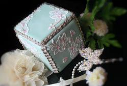 Cherry Blossom 3D box cookies