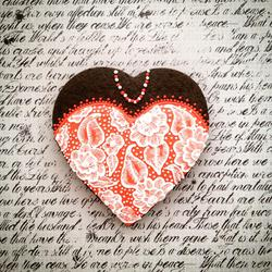 Brush embroidery heart