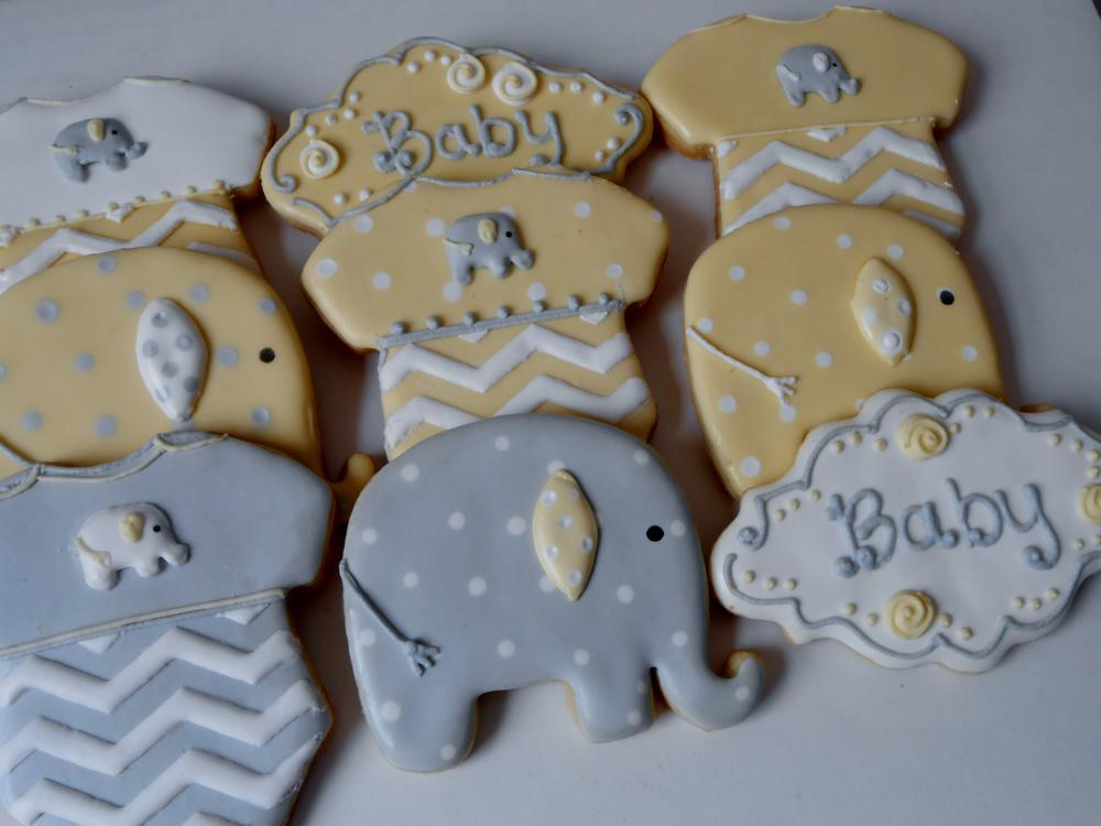 Elephant Baby Shower Cookies | Cookie Connection
