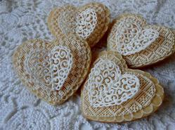 Butterfly Heart Cookies