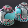 3-D Contoured Cookie Mosaic Boxes by Julia M Usher