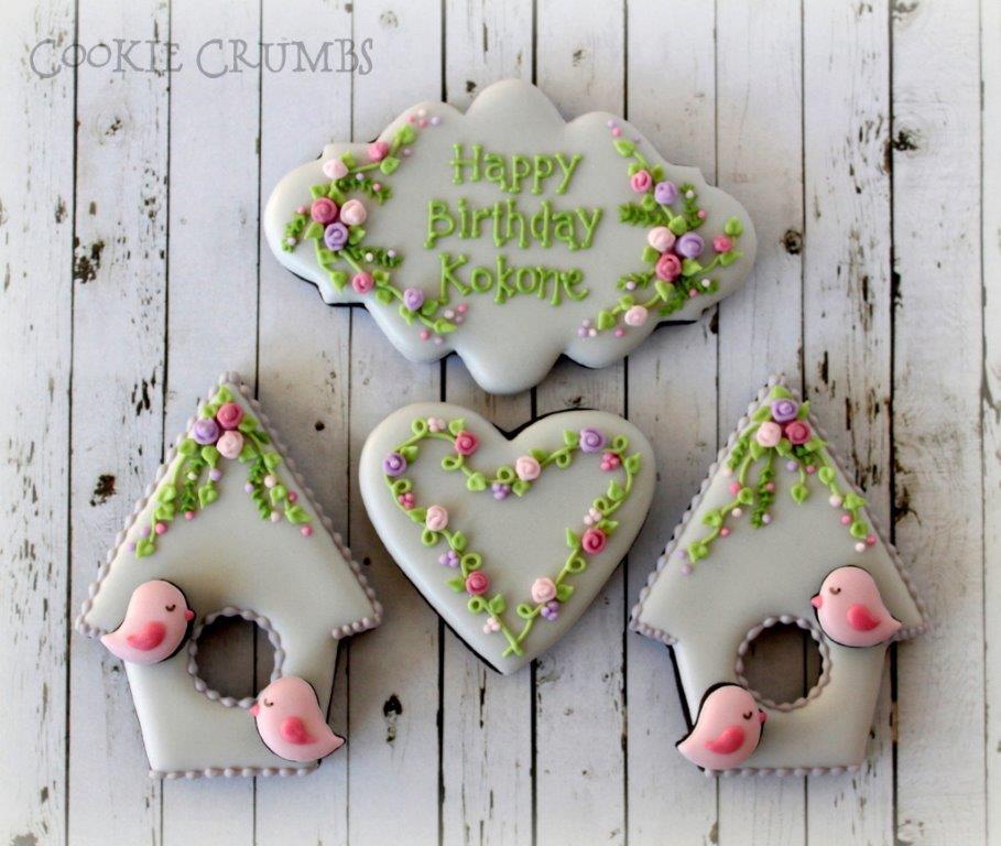 Spring Birdhouse Cookies