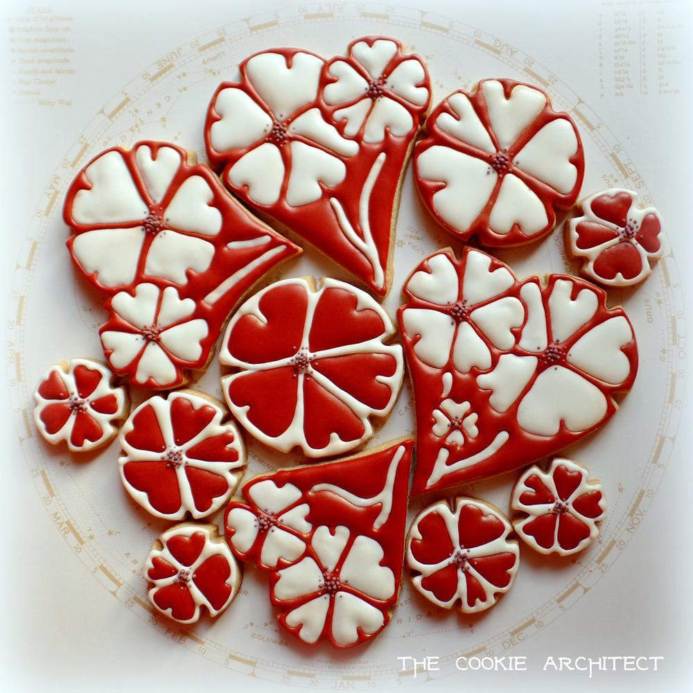 Flower Valentine Mandala | The Cookie Architect