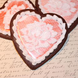 Brush embroidery lace rose