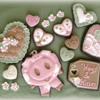Valentines Piggy and Hearts