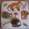Woodland Puzzle Cookie