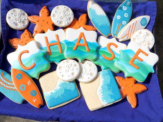 Beach Themed Baby Shower Cookies