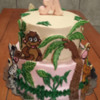 Jungle Theme Cake with Cookies