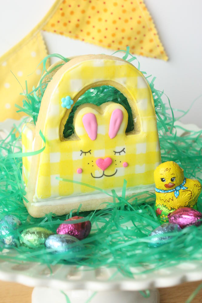 3D Bunny Basket Cookies