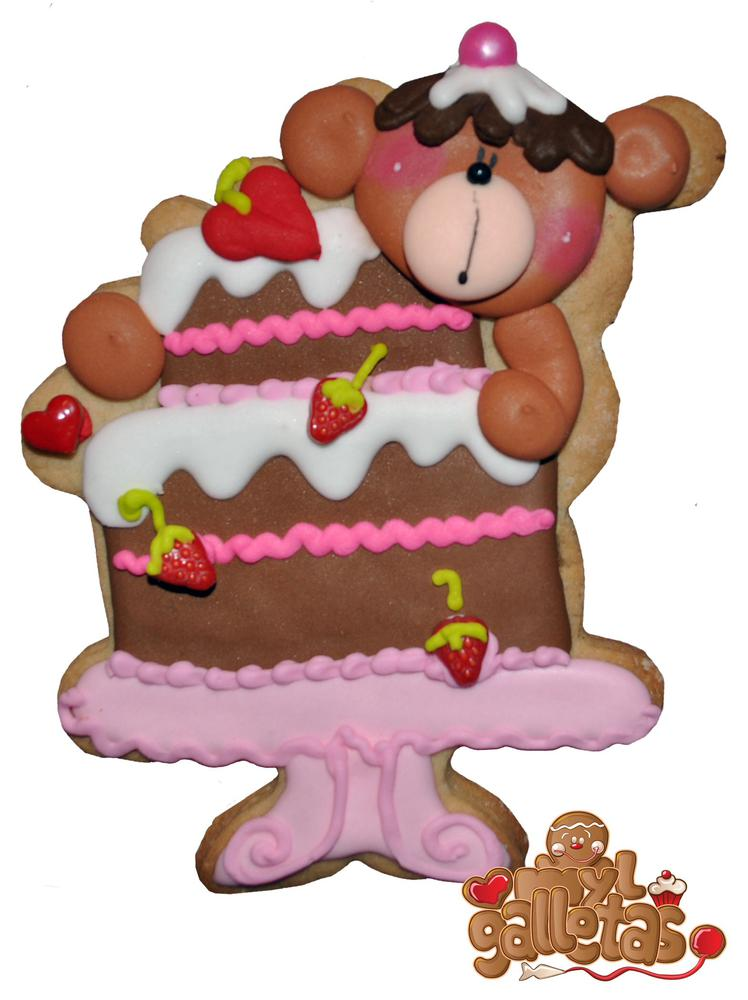 Galleta pastel oso