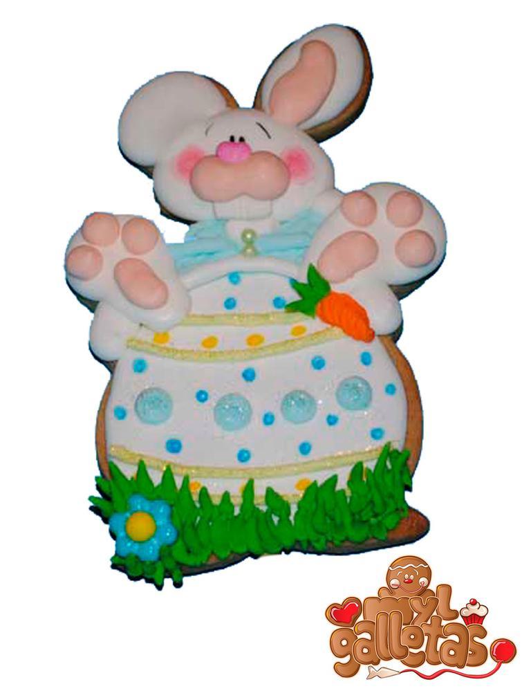 Galleta conejo huevo Pascua