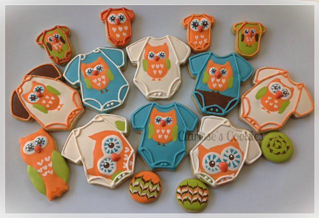 Baby Shower Owl onesies