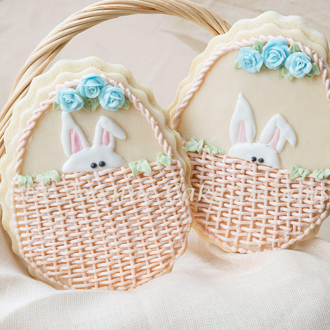 Peek A Boo Bunny Easter Cookie