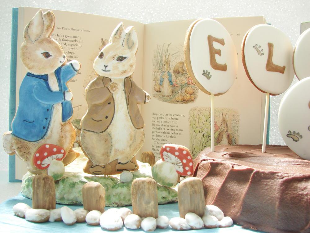 Peter Rabbit and Benjamin Bunny