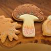 Oak Leaf, Mushroom (Toadstool), Acorn cookies