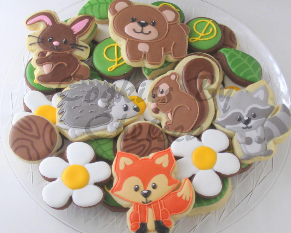 Woodland Creature Baby Shower Cookies