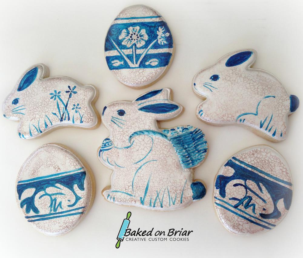 Dedham Pottery-Inspired Cookies