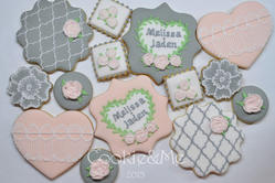 Wedding theme cookies