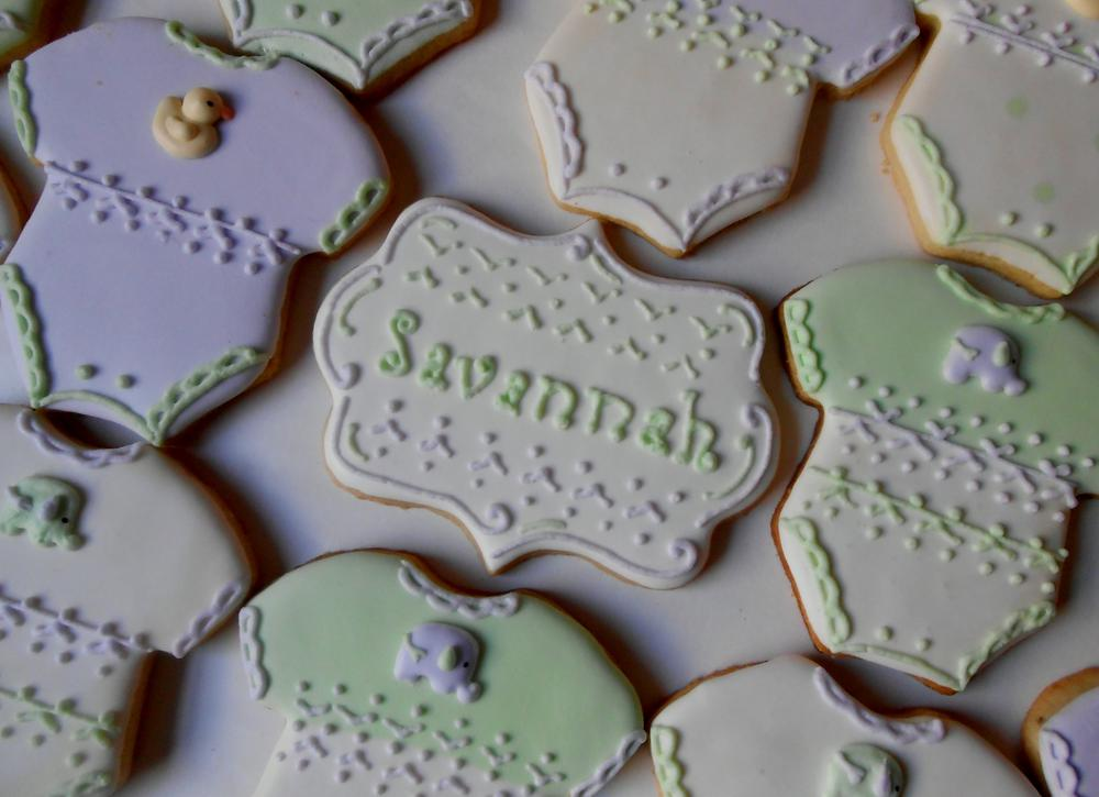 Elephant and Duck Baby Shower Cookies