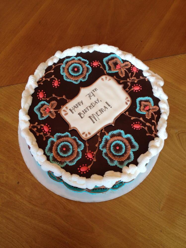 Art Deco70s Birthday Cake Cookie Connection