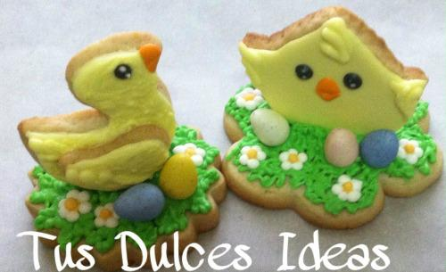 Easter chick and duck