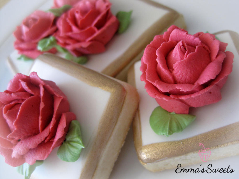 Royal Icing Roses by Emma's Sweets | Cookie Connection