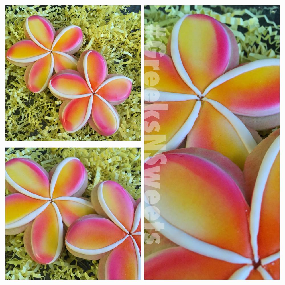 Plumeria Flower Greeks N Sweets Cookie Connection