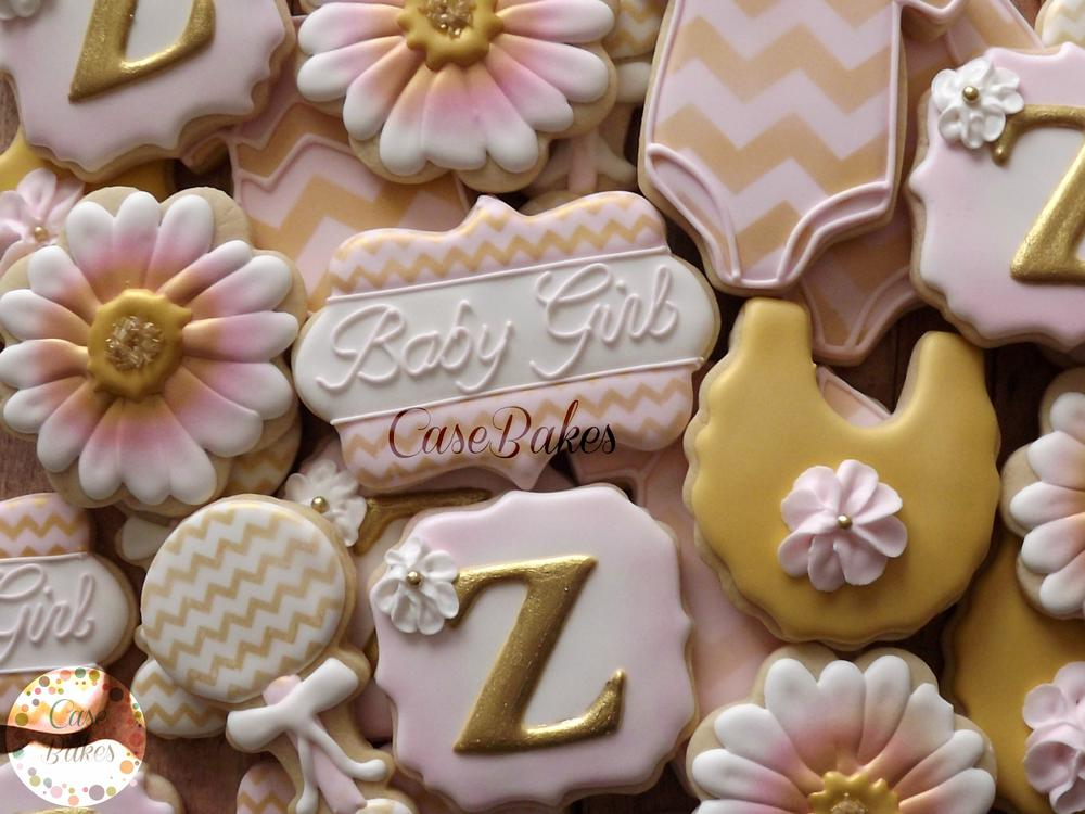 Pink and Gold Chevron Baby Shower