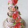 3-D Contoured Cookie Wedding Cake
