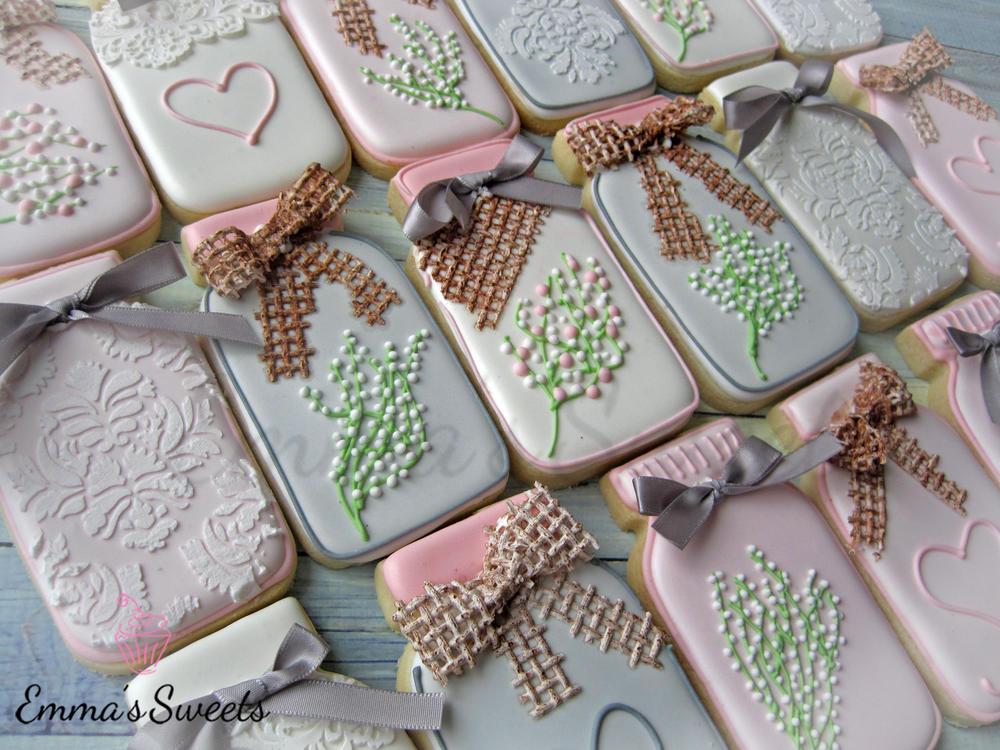 Mason Jar cookies by Emmas Sweets