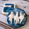 Horses on Denim by Dany's Cakes
