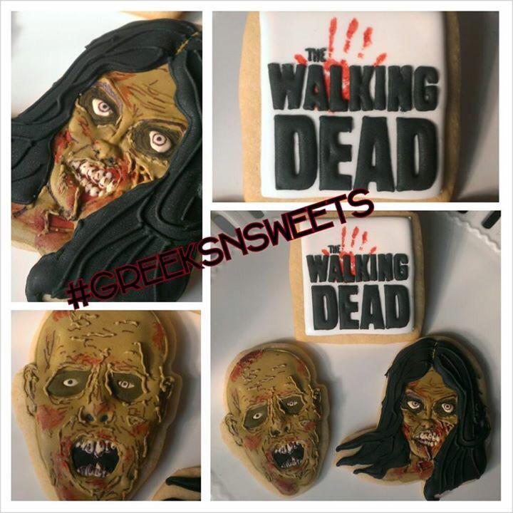 Zombie Cookies (The Walking Dead) -Greeks-N-Sweets
