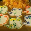 hand painted teapot cookies