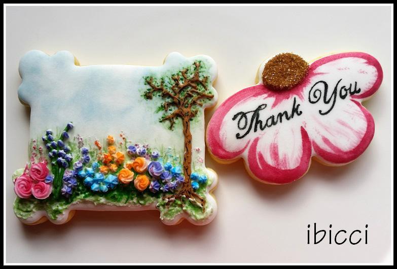 Garden cookies thank you to Sister